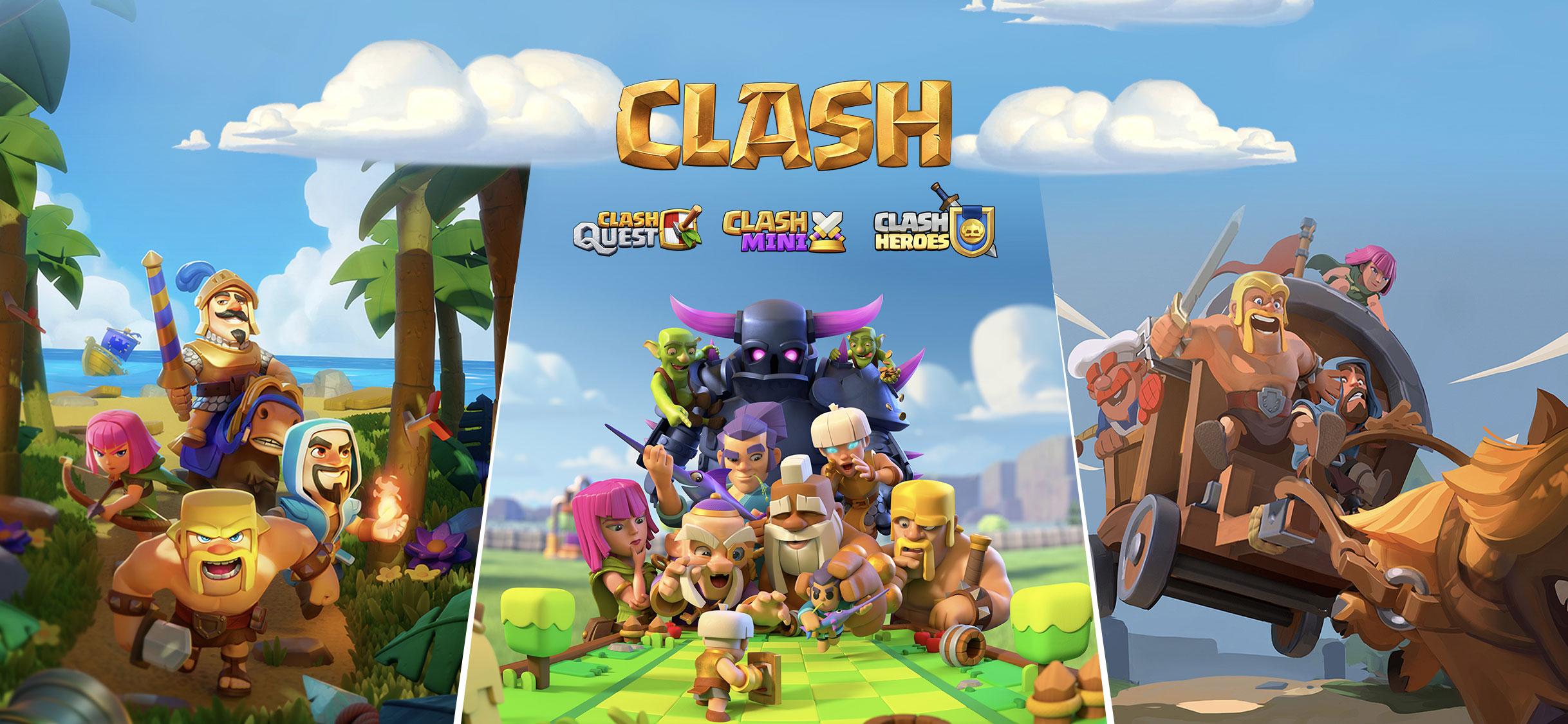 Supercell anuncia 3 novos jogos da franquia CLASH!